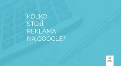 Koľko stojí reklama na Google?